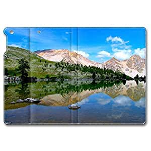 iPad Air Case, Shock-Absorption/Impact Resistant PU pc hard Personalized Protective Folio Smart Case Cover(Automatic Wake/Sleep Function) for iPad Air - Green Lake 4