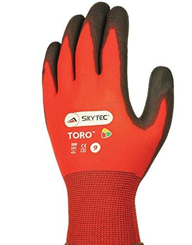 10 Pairs Skytec Basalt Men Work Gloves PU Coated Precision Tasks Hand Protection