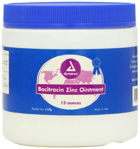 Dynarex Bacitracin Zinc, 15 Ounce Jar