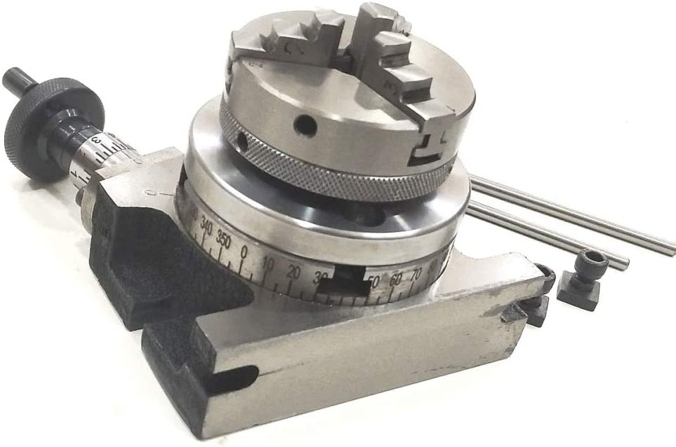 "Backplate Milling Tool 100mm Rotary Table 4/"" + 65mm Self Centering Chuck"