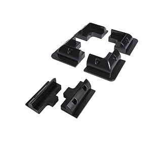 Giosolar Panel Solar soportes de montaje esquina soportes plástico abs-black