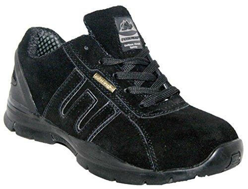Groundwork Para Hombre Ligero Piel, Puntera de ACERO Cordones Zapatillas de Seguridad, Color Gris, Talla 40.5