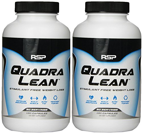RSP Nutrition Quadralean Stimulant Free Weight Loss, 150 Count (2 Pack)