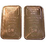 2x 1 Ounce Copper Ingot. 2 Pack of 1 Ounce Pure .999 Copper Bullion Bars In a Custom Microfiber Pouch by Vx Investments. Paperweight.
