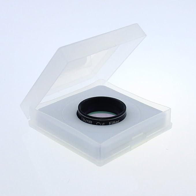 UV filtro de bloque de corte IR infrarrojos CCD c/ámara filtro de interferencia filtro UV Fit para ocular de 1,25/pulgadas