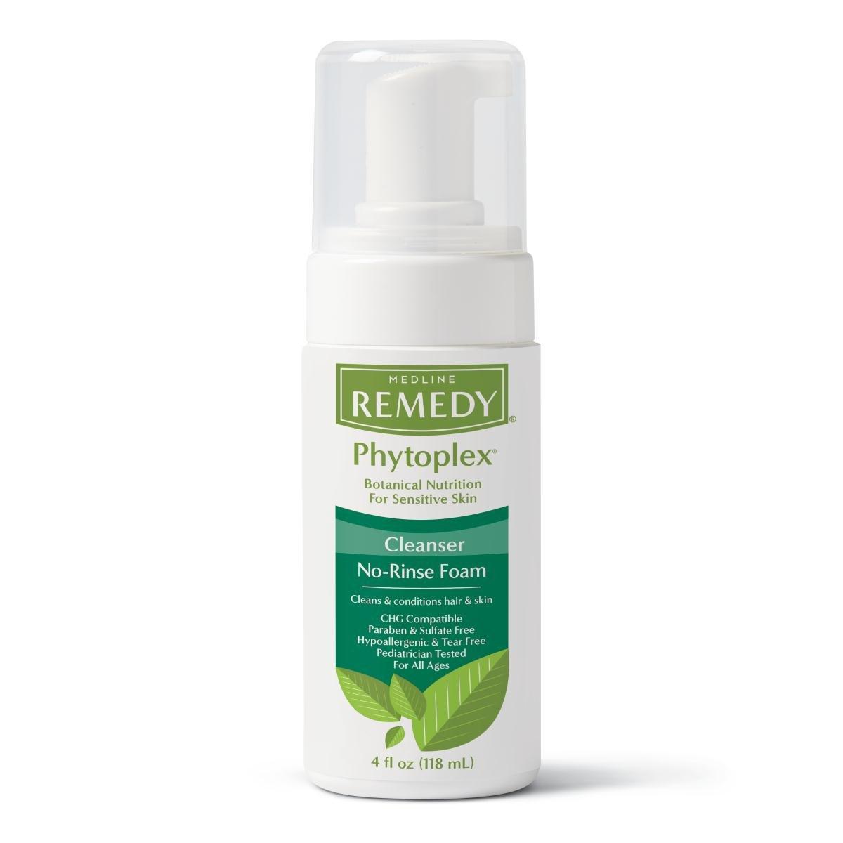 Medline MSC092104 Remedy Phytoplex No-Rinse Hydrating Cleansing Foam, 4 oz (Pack of 24) by Medline