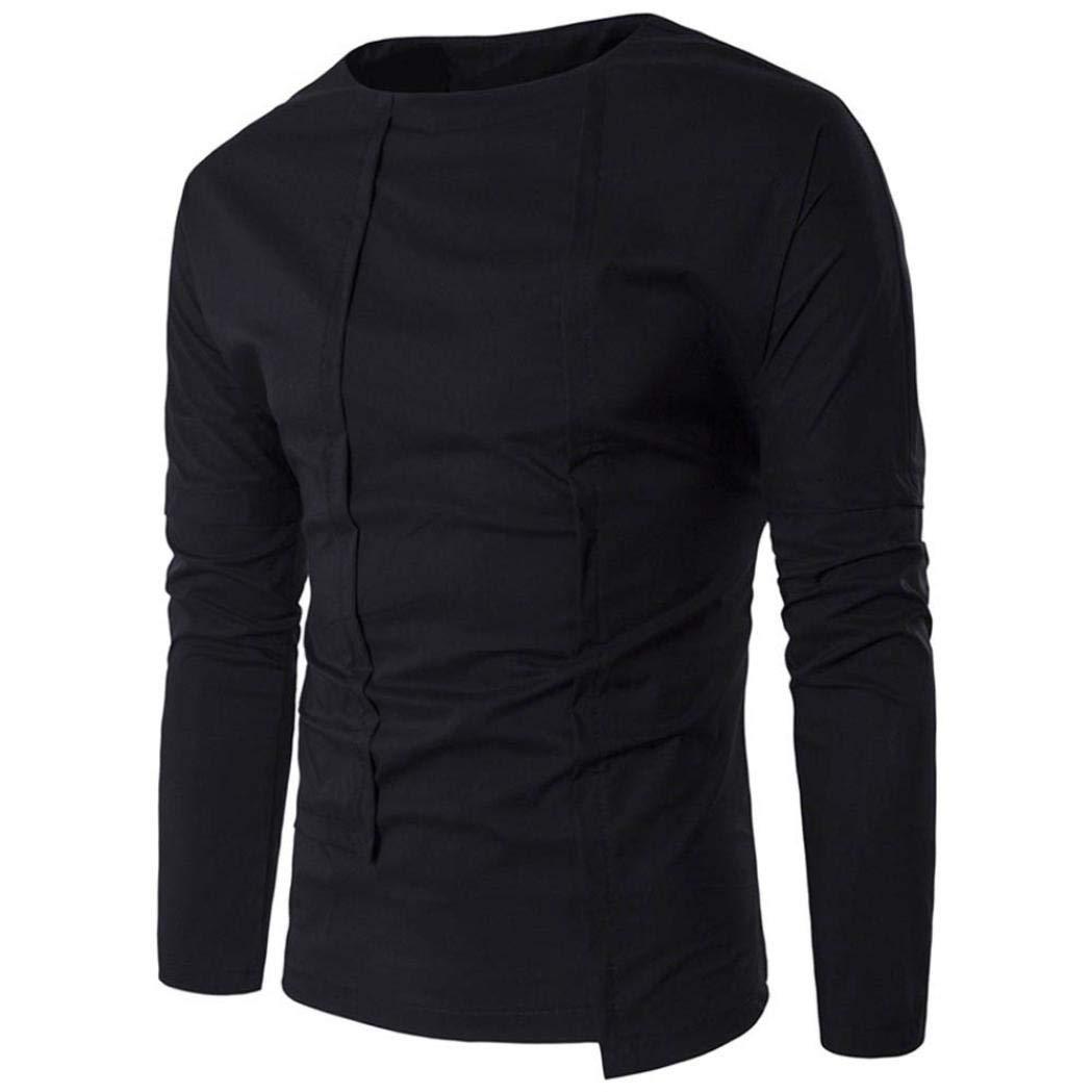 Uomo Camicie Maniche Lunghe, Yesmile New autunno inverno Men ' s Slim manica lunga camicia casual camicia solida camicetta top Camicia Business da Uomo Slim Fit