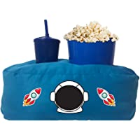 Almofada Porta Pipoca Azul Infantil Astronauta Cor:Azul