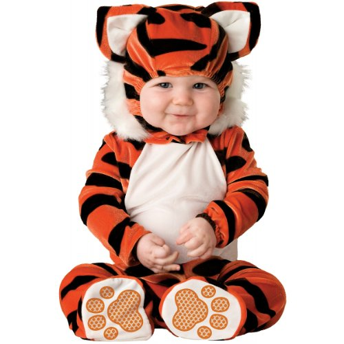 Lil Characters Unisex-baby Newborn Tiger Costume, Orange/Black/White, 6-12