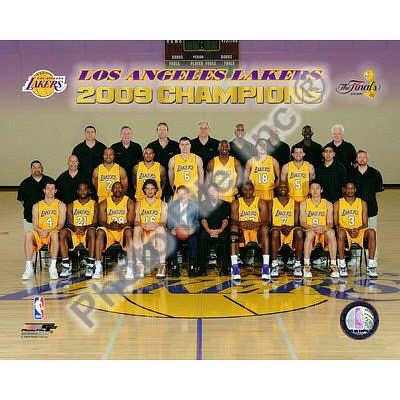 (20x24) Los Angeles Lakers 2009 NBA Champions Glossy Photograph