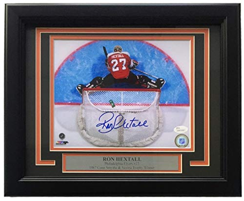 Ron Hextall Signed Photo - Framed 8x10 Stretch - JSA Certified - Autographed NHL Photos