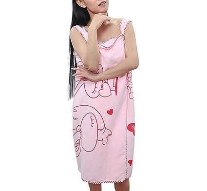 Ultrafine Cable de regla portátil toalla de baño con falda de baño tirantes albornoz para niñas