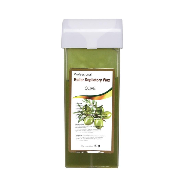 Hair Removal , Rawdah Roll On Hot Depilatory Wax Heater Waxing Hair Remove (Deep Green)