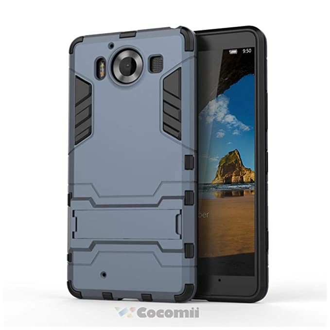 Cocomii Iron Man Armor Microsoft Lumia 950 Case New [Heavy Duty] Premium Tactical Grip Kickstand Shockproof Bumper [Military Defender] Full Body ...