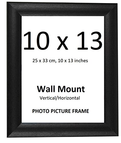 Elaine Karen Deluxe Wood Photo Picture Frame – Black – ()