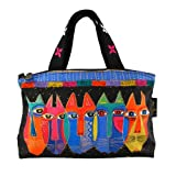 Laurel Burch Tribal Cats Small Tote Bag, Bags Central