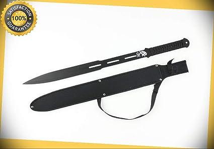 Full Tang Black Straight Ninja Sword with Sheath Brand New ...