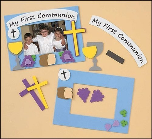 My Holy First Communion Foam Photo Frame with Chalice Arts and Craft Kit for Kids -