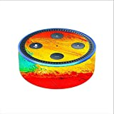 Skin Decal Vinyl Wrap for Amazon Echo Dot 2 (2nd generation) / paint strokes 2