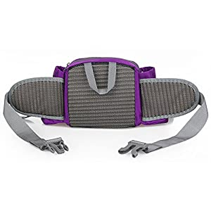 WATERFLY Fashion Durable Unisex Outdoor Sport Gym Camping Hiking Bike Waist Pack Bum Water Bottle Holder Riding Cycling Climbing Bag Pouch Trekking Bag Practical Handy Bag Case Bum Travel Waist Belt Bag Pack Cove (Purple)