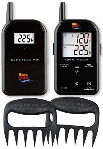 Maverick Wireless Barbecue Thermometer - Black ET732 - Includes Bear Paw Meat Handlers