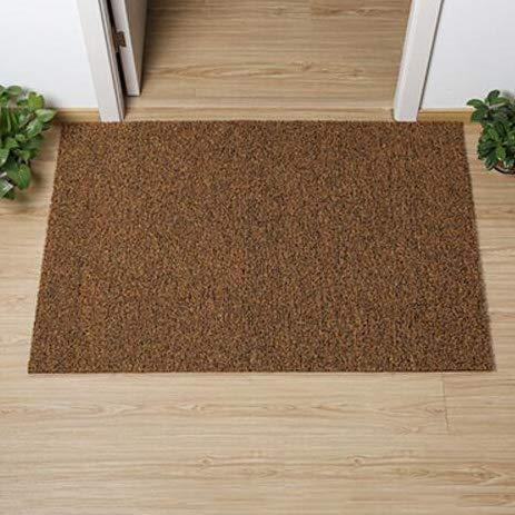 Khaki 40x60cm(15.7x23.6inch) Non-Slip Door Mat, Carpet Front Door Carpet for Doorway Stairs Insole Balcony Front Door-Black 60x90cm(24x35inch)