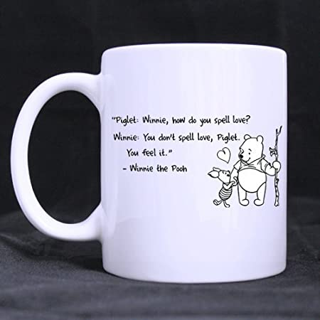 1cc2fb643e9 Image Unavailable. Image not available for. Colour: Refreshus Winnie The Pooh  Custom White Coffee Mug Tea Cup 11 OZ Office Home Cup