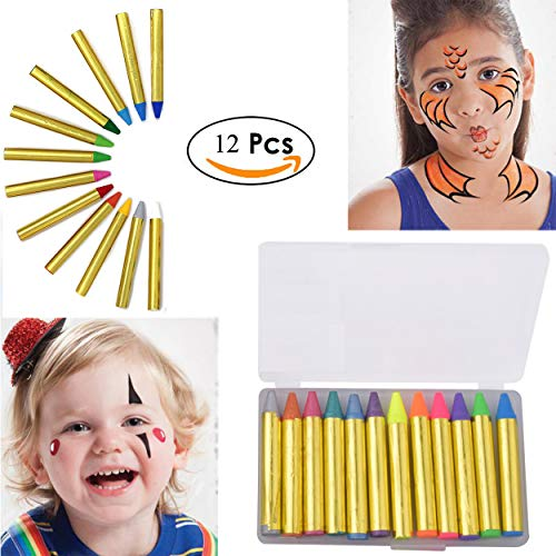 Halloween Makeup America Toy 12 Color Face Paint Safe & Non-Toxic Face and Body Crayons Ultimate Party Pack for $<!--$2.99-->
