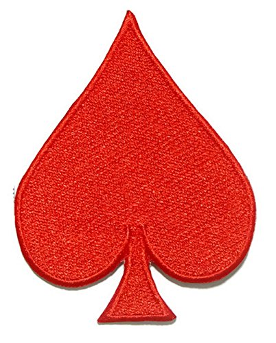 Spade Poker Iron On Patch Embroidered Sewing For T Shirt  Hat  Jean  Jacket  Backpacks  Clothing