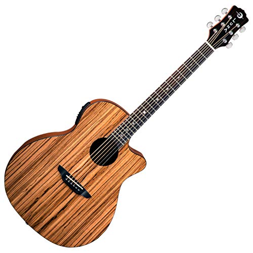 Luna GYP E ZBR Acoustic-Electric Guitar, Gloss Natural