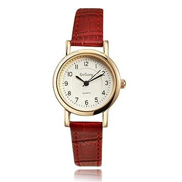 JDHCBGBG Relojes Simples Elegantes De Las Mujeres 2018 Marca Relojes De Pulsera De Moda para Mujer De Cuero Reloj De Cuarzo Reloj: Amazon.es: Deportes y ...