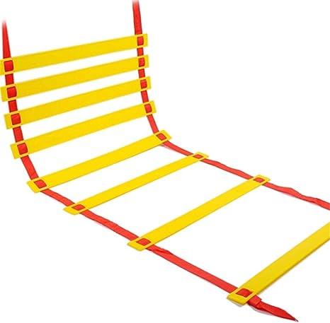 ZMXZMQ Escaleras De Entrenamiento Speed Agility, Escalera De Peldaños Ajustable con Bolsa De Transporte, para Un Juego De Pies Más Rápido Y Mejores Habilidades De Movimiento: Amazon.es: Deportes y aire libre