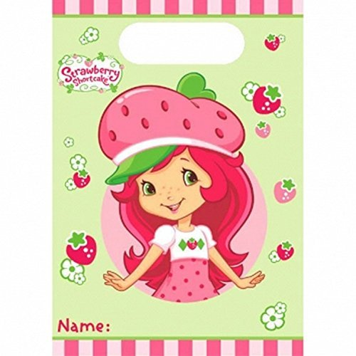 8 count Strawberry Shortcake Birthday Party Gift Bags