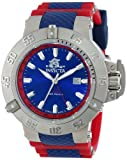 Invicta Men's 10988 Subaqua Noma III Blue Dial Red Polyurethane Watch, Watch Central