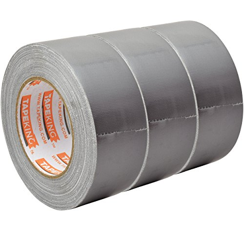 Tape King Professional Grade Duct Tape, 3-Pack, Silver Color Multi Pack, 11mil Thick (1.88 Inch x 35 Yards), 48mm x 32m - Ideal for Crafts, Home Improvement Projects, Repairs, Maintenance, Bulk