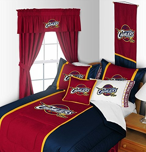 Cleveland Cavaliers 4 Pc TWIN Comforter Set (Comforter, 1 Flat Sheet, 1 Fitted Sheet, 1 Pillow Case) PERFECT FIT FOR A FAN'S BEDROOM OR -