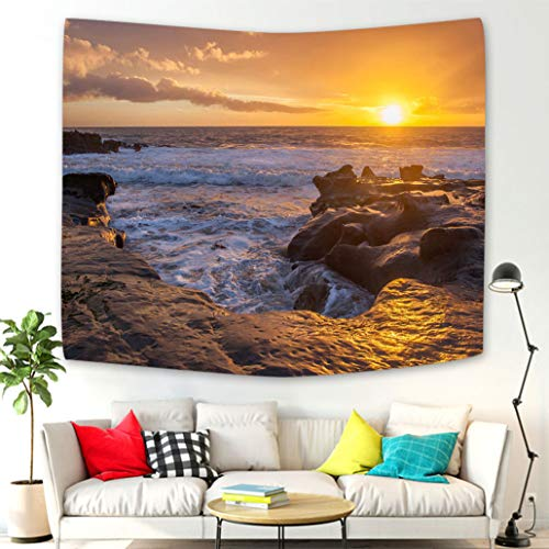 Creative Design Tapestry Wall Hanging Laguna Beach Tidepools at Sunset Tapestries Wall Art Decoration for Living Room Bedroom