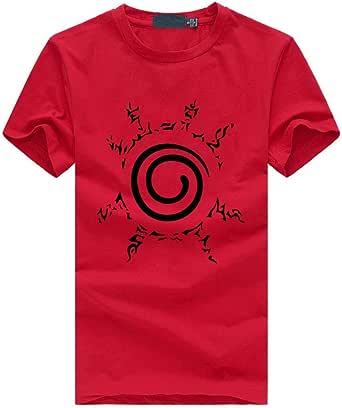 TSHIMEN Camisetas Hombre Escalada Naruto 2019 Verano Anime ...