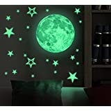 Marsway Kids Removable Moon Stars Glow In The Dark Sticker...
