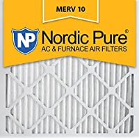 Nordic Pure 19.5x19.5x1 MERV 10 Pleated AC Furnace Air Filter by Nordic Pure