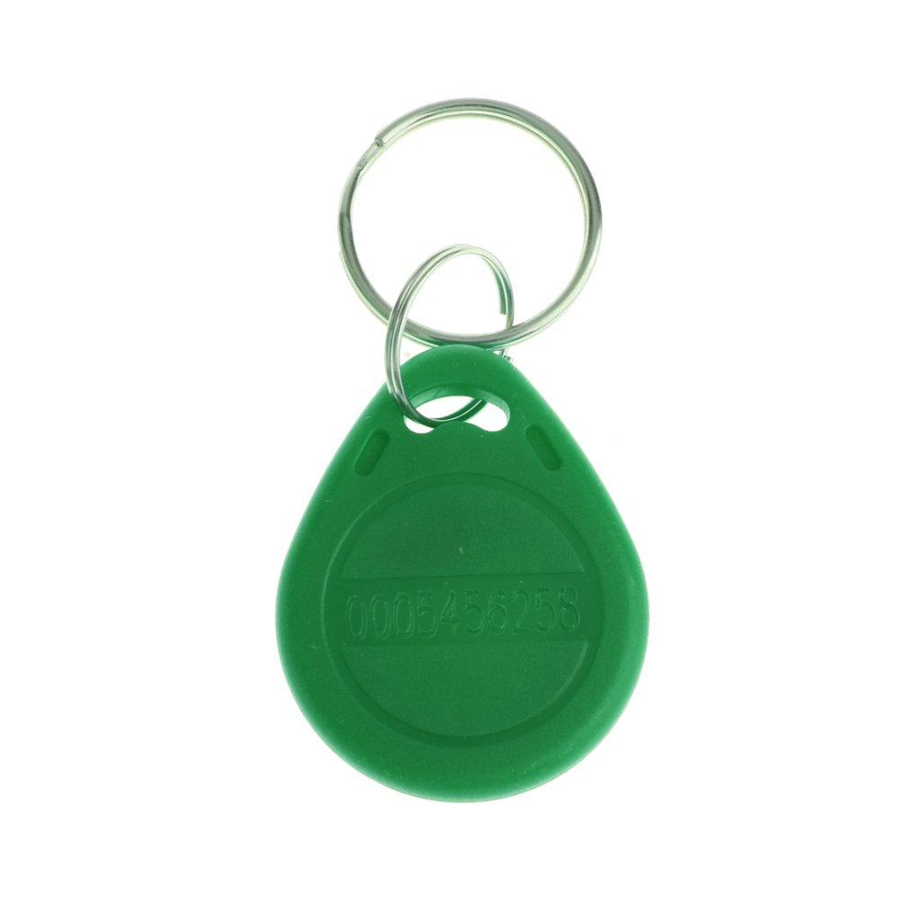 PETSOLA 10pcs /étiquettes Didentification De La Carte Didentit/é De Proximit/é RFID 125KHZ Porte-cl/és Maison 4 Couleurs Disponibles Vert