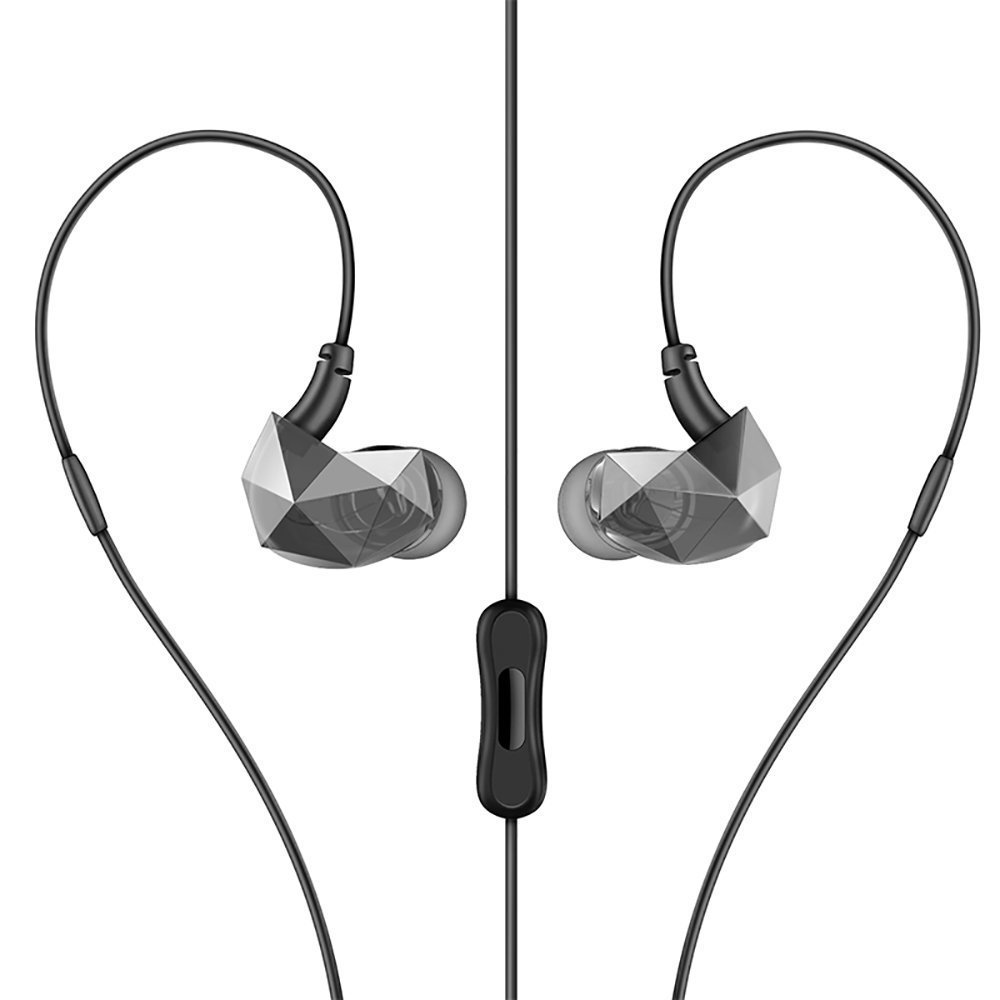 Pevor Wired in-Ear Earbuds Sports Earphones Bass Water Resistant Headphones with Mic Noise Cancelling for Smartphone iPad iPod MP3 HiFi Player