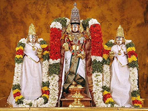 PRINTELLIGENT Tirupathi Balaji Wall Sticker Lord Balaji Non-Tearable Poster for Home and Office Wall...