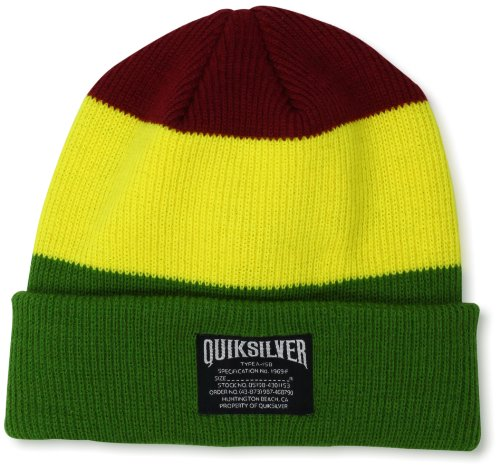 Quiksilver Men's Skooter Knit Caps, Rasta, One (Quiksilver Clothing Mens Beanie)
