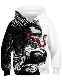 Pandolah Boys Christmas 3D Print Hoodie Animal Pocket Sweatshirt Pullover
