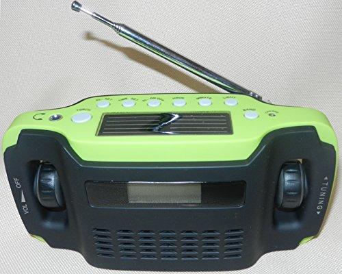 Five-In-One Emergency Solar Crank Orange Radio