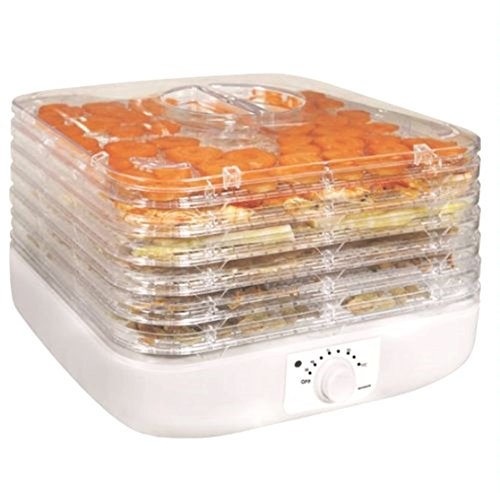6-tray-electric-food-dehydrator-fruit-vegetable-dryer-beef-snack-jerky-white-new