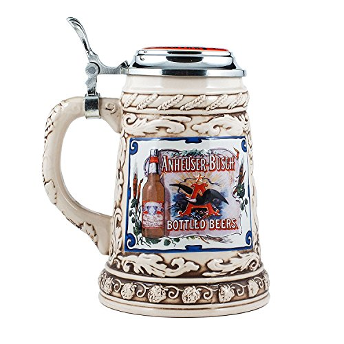 Anheuser-Busch Collector's Stoneware Stein with Pewter Lid - Limited Edition - .75 Liter ()