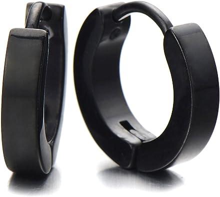 anneaux boucle d'oreille noir