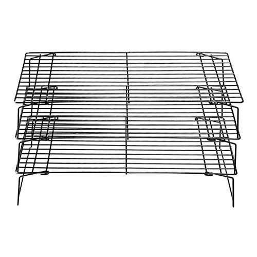 Blesiya Baking Cooling Rack 3 Tier Tray Bread Bakeware Holder Pie Cookies Stackable